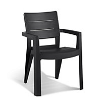Keter Ibiza Stacking Garden Chair - Graphite