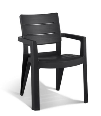 Keter Ibiza Stacking Garden Chair Graphite