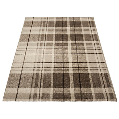 Image for Eternity Plaid Rug Natural - 120 x 170cm from StoreName