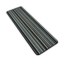 Central Park Anthracite Rug - 57 x 170cm