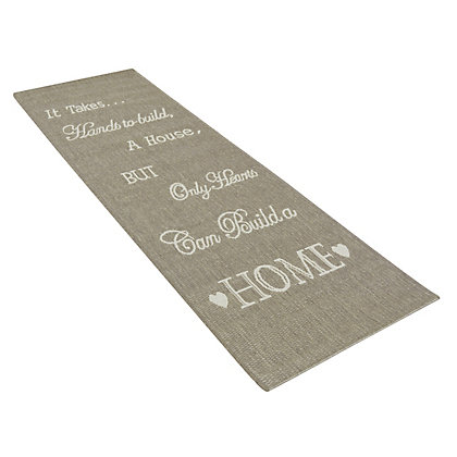 Image for Country Hand & Heart Rug Taupe - 67 x 200cm from StoreName