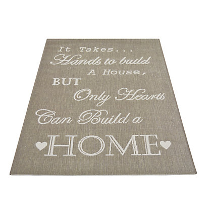 Image for Country Hand & Heart Rug Taupe - 120 x 170cm from StoreName