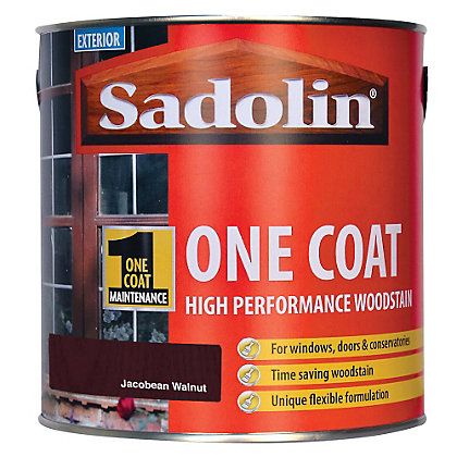Image for Sadolin Advanced One Coat Woodstain - Jacobean Walnut - 2.5L from StoreName