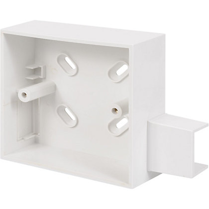 Image for Schneider ISM80031 Electric Round Conduit 1 Gang 32mm Surface Box With Adaptor - White from StoreName