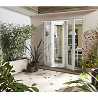 Wellington White Folding Sliding Patio Doorset - 2405mm Wide