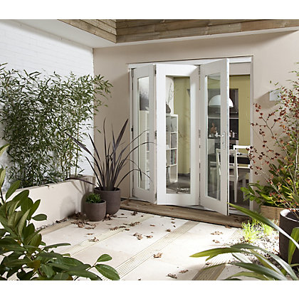 Image for Wellington White Folding Sliding Patio Doorset - 2405mm Wide from StoreName