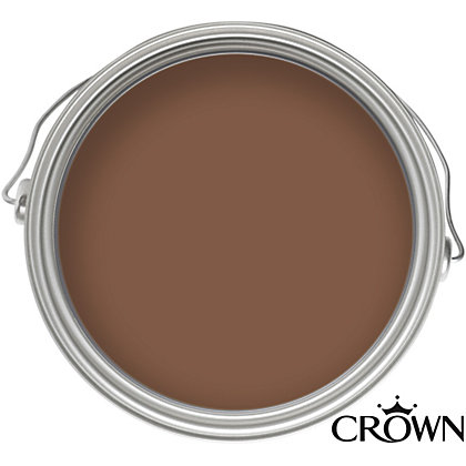 Image for Crown Solo Chocolate Brown - One Coat Gloss Paint - 750ml from StoreName
