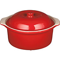 Home of Style Large Casserole Dish - Red