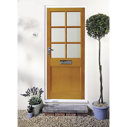 Image for Cambridge 6 Lite Clear Glazed External Door - 762mm Wide from StoreName