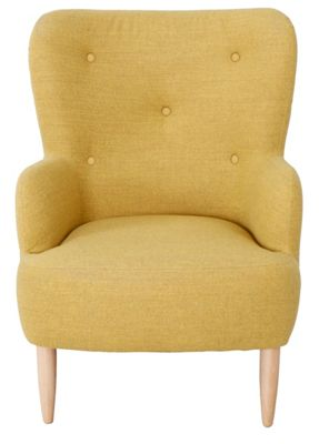 Habitat Wilmot Yellow Armchair