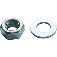 Hex Nut & Washer - Bright Zinc Plated - M6 - 10 Pack