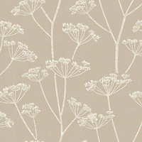 Fine Decor Albury Wallpaper - Soft Grey