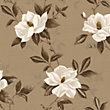Fine Decor Magnolia Wallpaper - Chocolate and Gold