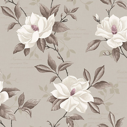 Image for Fine Decor Magnolia Wallpaper - Stone from StoreName