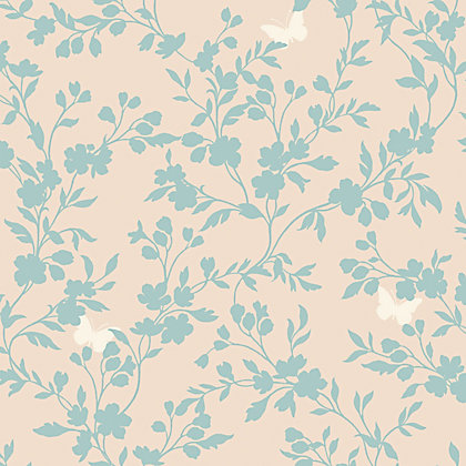 Image for Fine Decor Saskia Wallpaper - Duck Egg from StoreName