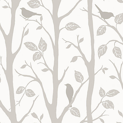 Image for Fine Decor Wallpaper Trees and Birds from StoreName
