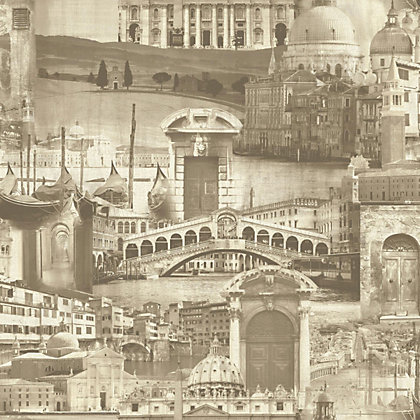 Image for Gran Deco La Bella Italia Wallpaper - Sepia from StoreName