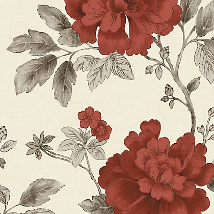 Image for Gran Deco Botanical Garden Wallpaper - Red from StoreName