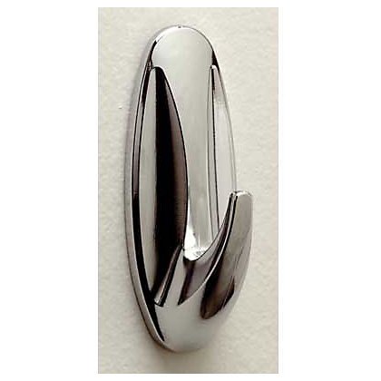 Image for Command Self-adhesive Chrome Hook - Medium from StoreName