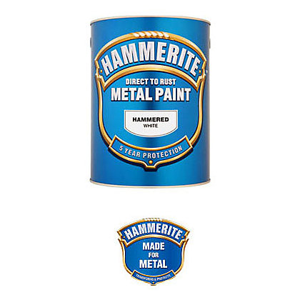 hammerite white hammered exterior metal paint 250ml. Black Bedroom Furniture Sets. Home Design Ideas
