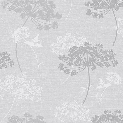 Image for Heidi Silver Floral Wallpaper from StoreName
