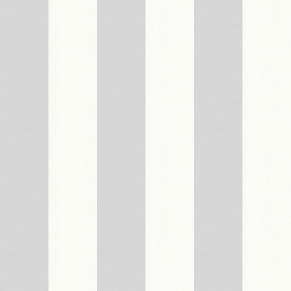 Opera Linen Stripe Wallpaper Grey
