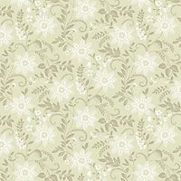 Opera Starflower Wallpaper - Sage