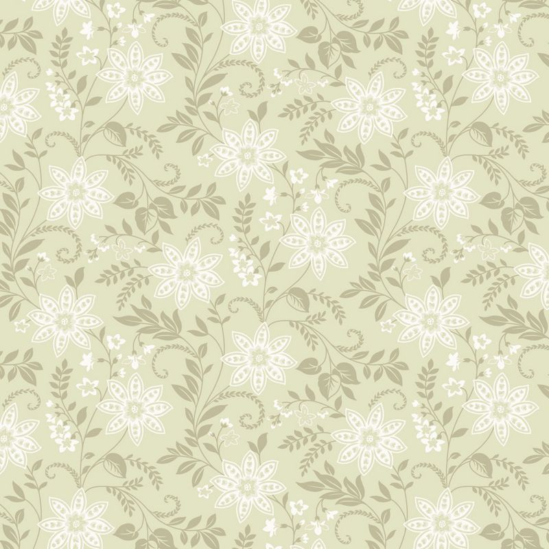 Homebase opera starflower wallpaper sage for Wallpaper homebase