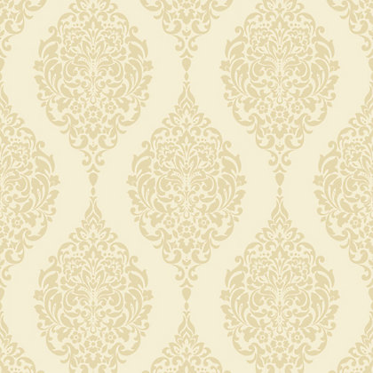 Image for Home of Colour Damask Stripe Wallpaper - Cream from StoreName