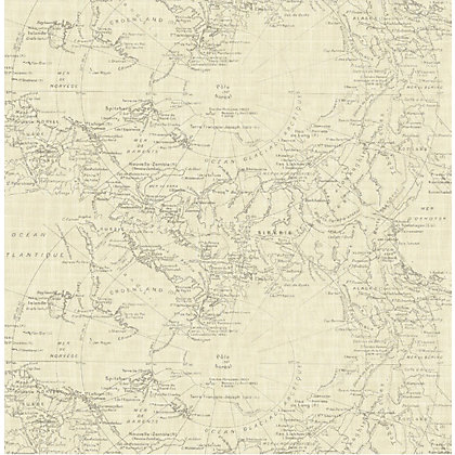 Image for Fresco Map Wallpaper - Cream from StoreName