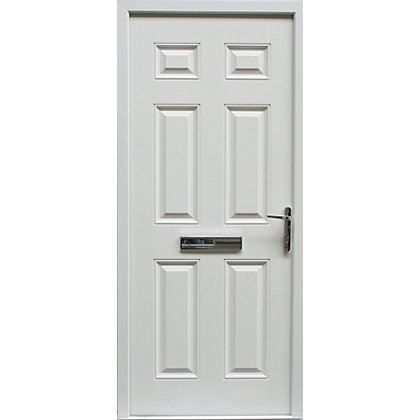 Image for Regency - 6 Panel Composite doorset White Left Hand Hung - 920mm Wide from StoreName