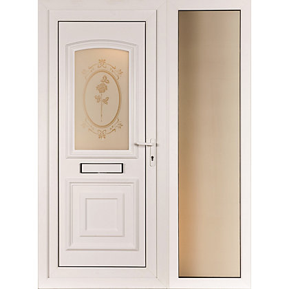 Image for St Ives & Wide Sidelite 2 Panel Left Hand Hung Screen Print Front Door - 1520mm Wide from StoreName