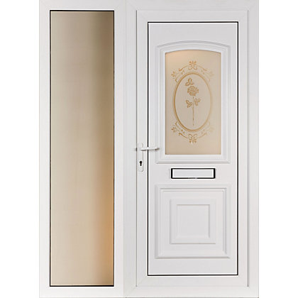 Image for St Ives & Wide Sidelite 2 Panel Right Hand Hung Screen Print Front Door - 1520mm Wide from StoreName