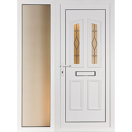Image for Lancaster & Wide Sidelite - Front Door Screen Print Right Hand Hung - 1520mm Wide 2085mm High from StoreName
