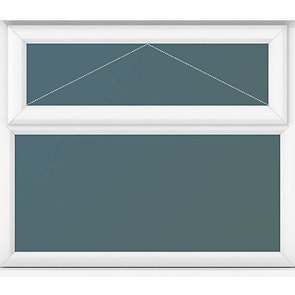 Image for Top Over Fixed Lite Clear Glass - (W)1190 x (H)1040mm from StoreName