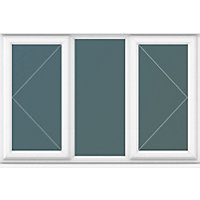 Double Side Hung Casements Clear Glass - (W)1770 x (H)1190mm