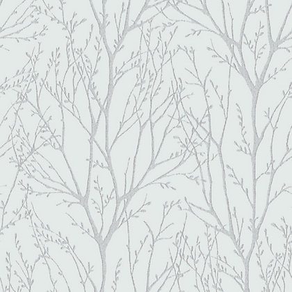 Fine decor delamere blue silver wallpaper for Wallpaper homebase