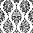 Home of Colour Damask Stripe Wallpaper - Black and White