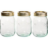 Kilner Screw Top Jars 0.5L - Set of 3