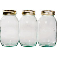Kilner Screw Top Jars 1L - Set of 3