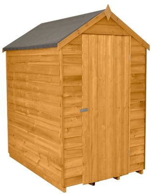 Forest Golden Brown Overlap Apex Dip Treated Wooden Shed - 4x6ft