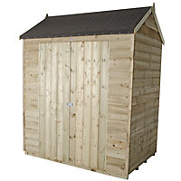Forest Reverse Apex Overlap Pressure Treated Wooden Shed - 6x4ft