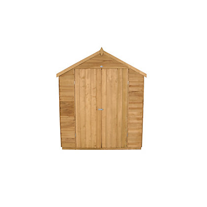 Image for Forest Honey Brown Overlap Apex Wooden Shed - 6x8ft from StoreName