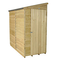 Forest Overlap Pent Wooden Shed - 6x3ft
