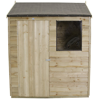 Image for Forest Natural Timber Overlap Reverse Apex Wooden Shed - 4x6ft from StoreName