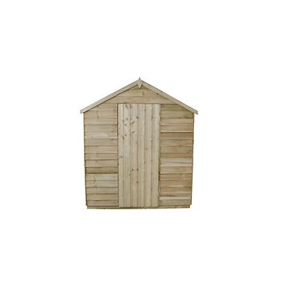 Image for Forest Natural Timber Overlap Apex Pressure Treated Wooden Shed - 6x8ft from StoreName