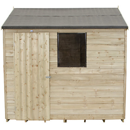 Image for Forest Natural Timber Overlap Reverse Apex Wooden Shed - 8x6ft from StoreName