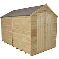 Forest Natural Timber Overlap Apex Wooden Workshop - 8x10ft
