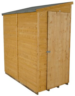 Forest Shiplap Apex Wooden Wall Shed - 6x3ft
