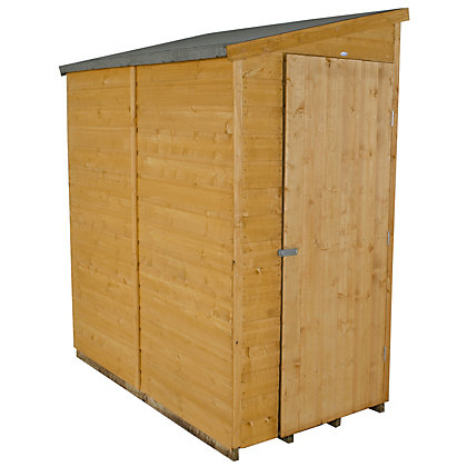 Image for Forest Shiplap Apex Wooden Wall Shed - 6x3ft from StoreName
